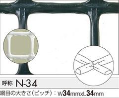 タキロン トリカルネットN-34 34mm目